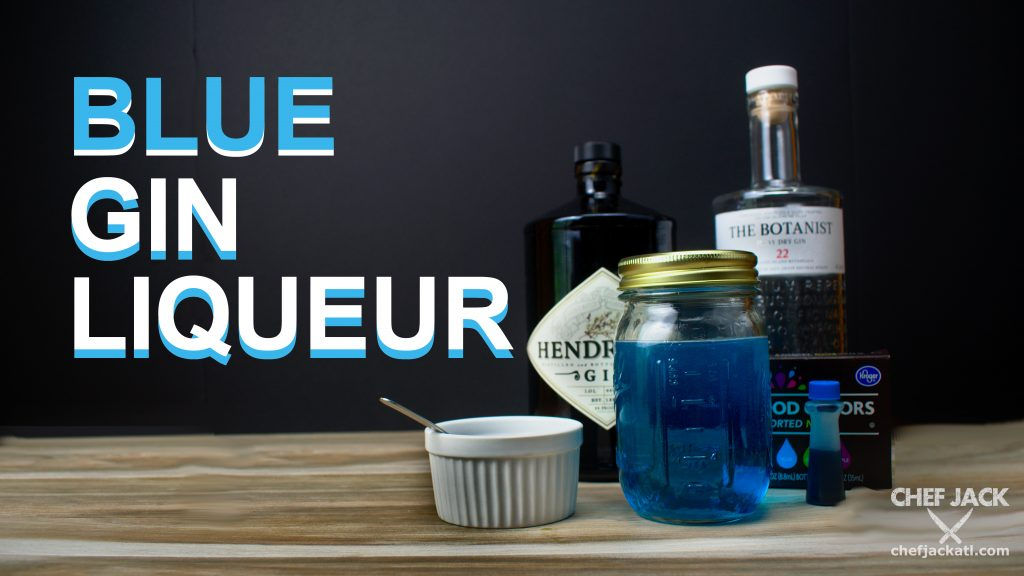 This blue gin liqueur recipe is a homemade alternative to the commercial blue liqueurs that are bright and eye-grabbing but ultimately fall short of flavor. Use a quality gin for the base and refined white sugar along with a neutral food coloring for a subtle yet colorful contribution to your cocktail cabinet.
